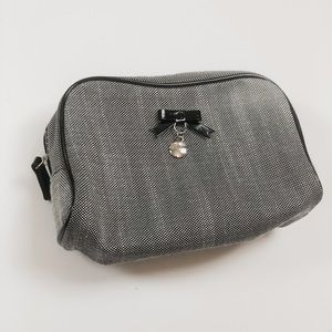 DIOR cosmetic pouch makeup bag black white squares